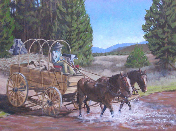 Painting - Supply Wagon by Todd Cooper