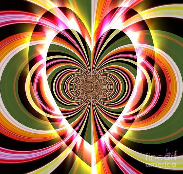 Respect Digital Art - Supportive Heart by Fania Simon