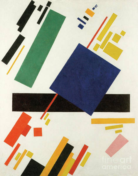 Wall Art - Painting - Suprematist Composition, 1916  by Kazimir Malevich