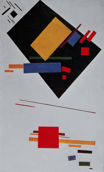 Crt Painting - Suprematist Composition by  Kazimir Malevich