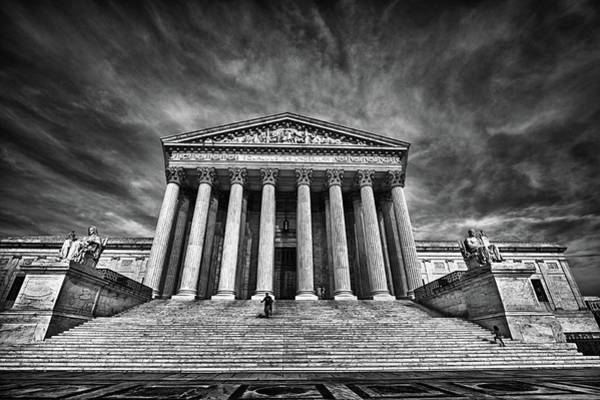 Supreme Court Building In Black And White Art Print