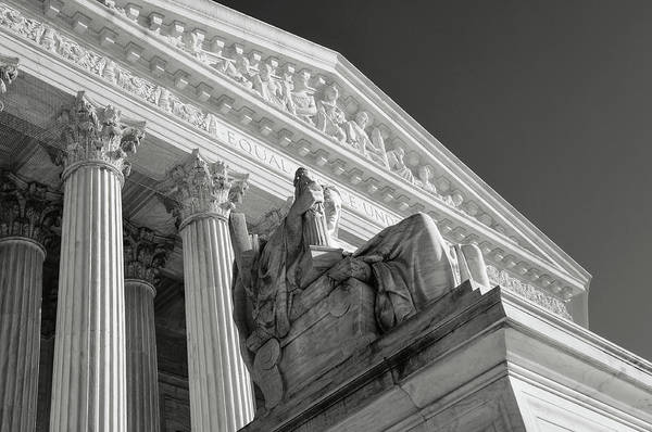 Photograph - Supreme Court Statue by Brandon Bourdages