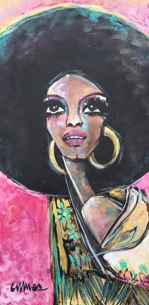 Painting - Supreme Love For Diana Ross by Laurie Maves ART