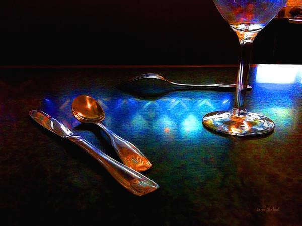 Fork Digital Art - Sur La Table by Donna Blackhall