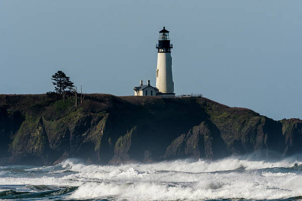 Photograph - Surf And Lighthouse by Robert Potts
