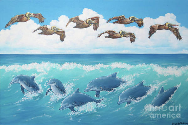 Painting - Surf And Soar by Elisabeth Sullivan