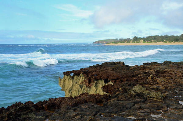 Mahaulepu Beach Photograph - Surf At Mahaulepu Beach Hawaii by Bruce Gourley