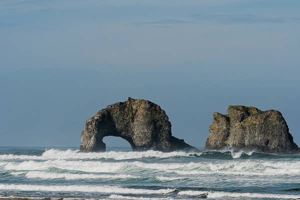 Photograph - Surf At Twin Rocks by Robert Potts