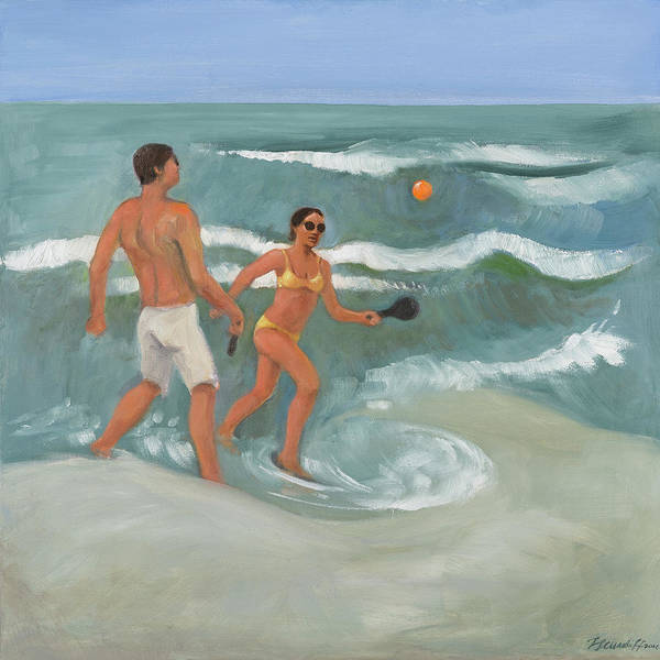 Painting - Surf Ball by Laura Lee Cundiff