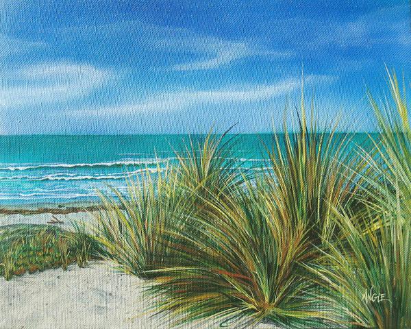 Wall Art - Painting - Surf Beach by Angie Hamlin