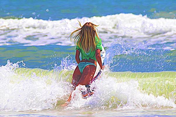 Photograph - Surf Blonde by Alice Gipson