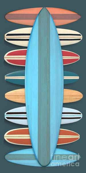 Digital Art - Surf Boards 5 by Edward Fielding