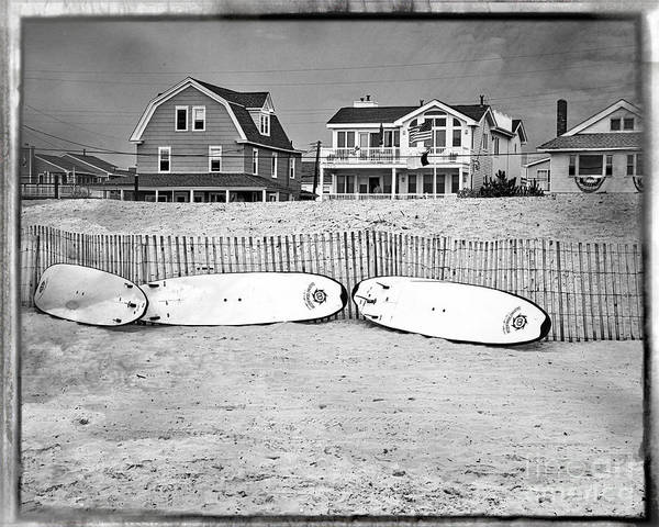 Surfboard Fence Photograph - Surf Boards On The Beach by Tom Gari Gallery-Three-Photography