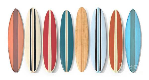 California Beaches Digital Art - Surf Boards Row by Edward Fielding