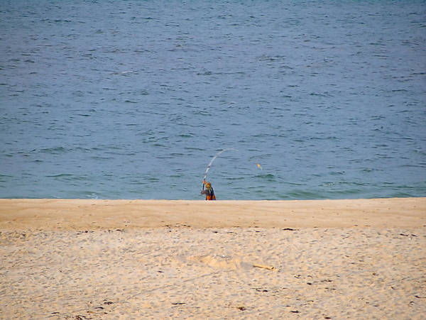 Photograph - Surf Caster by  Newwwman