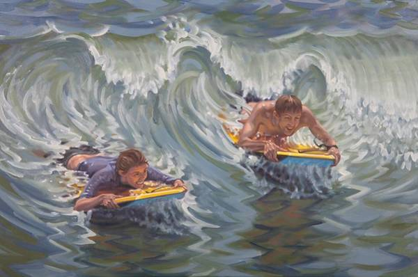 Painting - Surf Date by Gary M Long