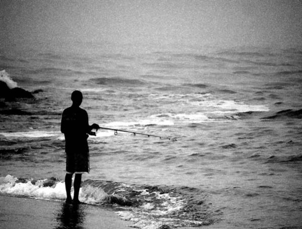 Photograph - Surf Fishing by Paul Ross