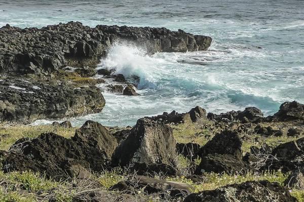 Photograph - Surf Pounding Ohua Coast   by NaturesPix