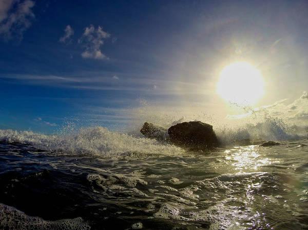 Photograph - Surf Setting Sun by Steven Lapkin