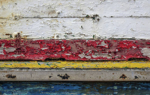 Wall Art - Photograph - Surface With Peeling Paint by Carlos Caetano