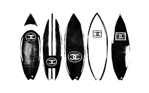 Wall Art - Painting - Surfboard Chanel 5 by Del Art