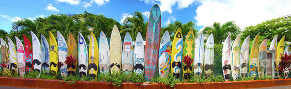 Surfboard Fence Photograph - Surfboards In Hawaii by ELITE IMAGE photography By Chad McDermott
