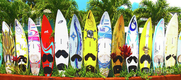 Surfboard Fence Photograph - Surfboards In Paia Maui Hawaii by ELITE IMAGE photography By Chad McDermott