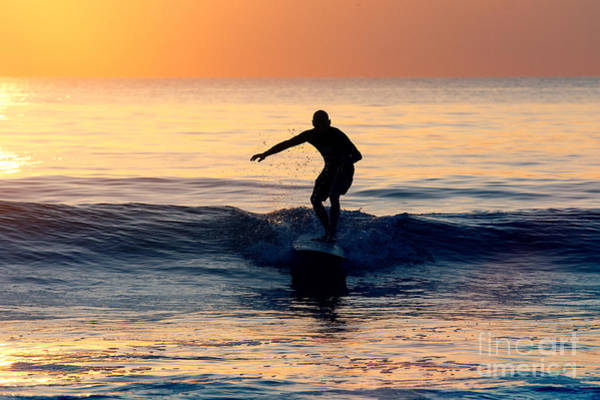Photograph - Surfer At Dusk by Minolta D