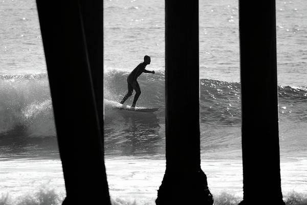 Photograph - Surfer At Huntington Beach by Pierre Leclerc Photography