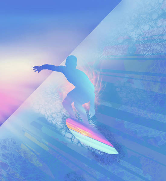 Wall Art - Digital Art - Surfer by Bekim M