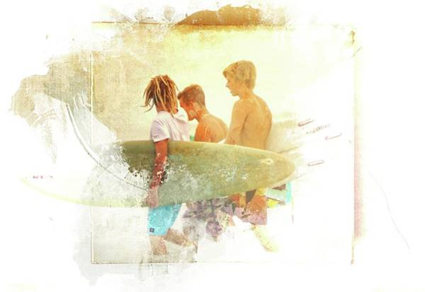 Flagler Beach Photograph - Surfer Dudes by Alice Gipson