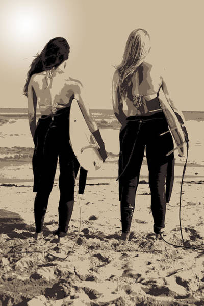 Photograph - Surfer Girls by Brad Scott