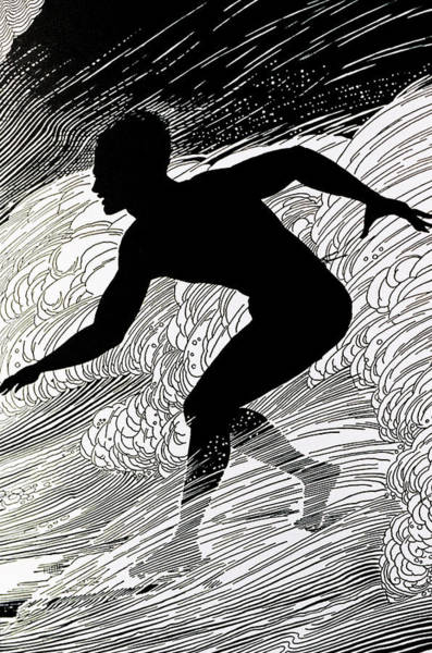 Surfing Wall Art - Painting - Surfer by Hawaiian Legacy Archive - Printscapes