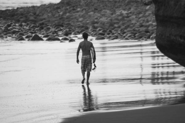 La Libertad Photograph - Surfer Reflection by Totto Ponce