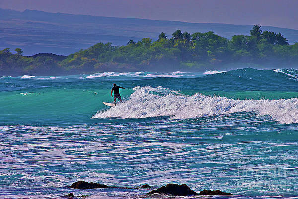 Photograph - Surfer Rides The Outside Break by Bette Phelan