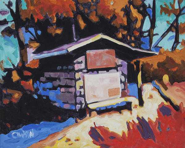 Painting - Surfer Shack by Rob Owen