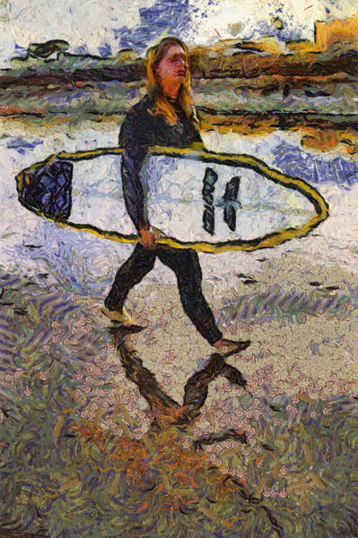 Photograph - Surfer Van Gogh by Alice Gipson