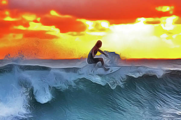 Surferking Art Print