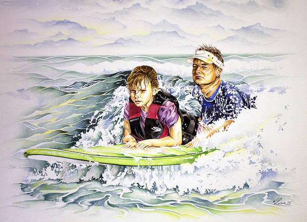 Surfers Healing Art Print