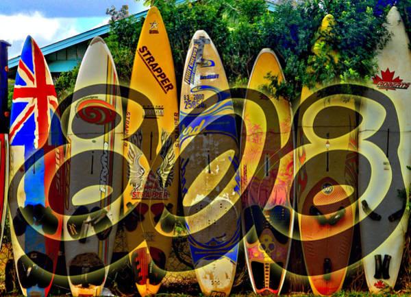 Surfboard Fence Photograph - Surfin' 808 by DJ Florek