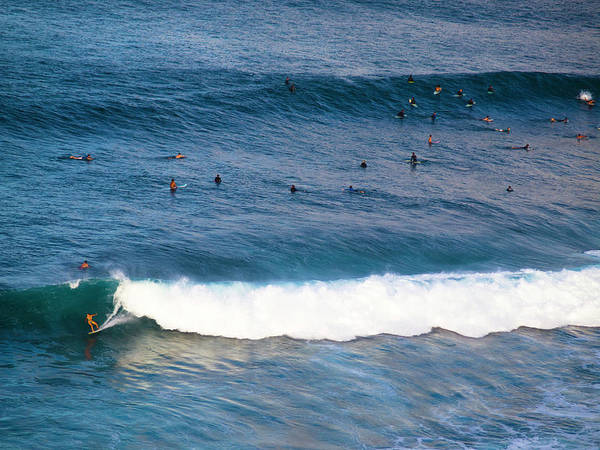 Photograph - Surfing At Honolua Bay by Christopher Johnson