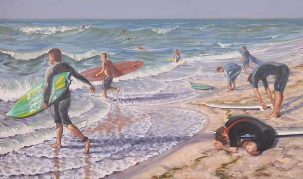 Painting - Surfing by Gary M Long
