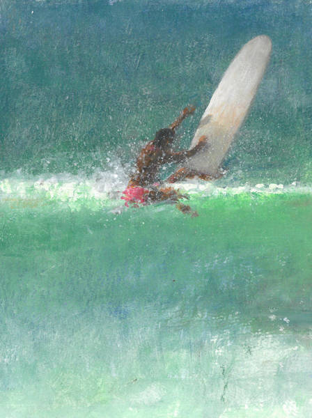 Curl Up Painting - Surfing  One by Lincoln Seligman