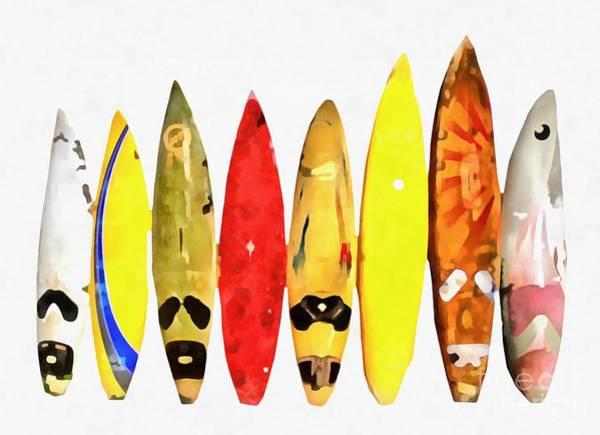 Wall Art - Digital Art - Surfing Painting by Edward Fielding