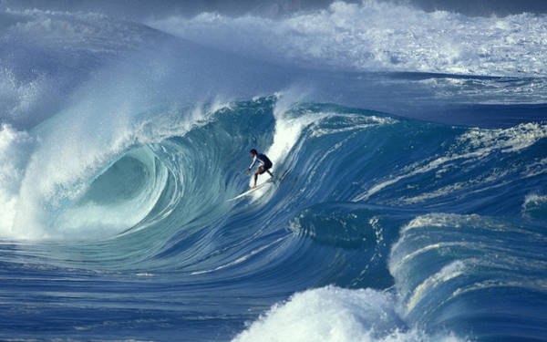Landscape Digital Art - Surfing by Super Lovely
