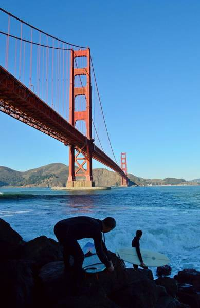 Photograph - Surfing The Golden Gate by KJ Swan