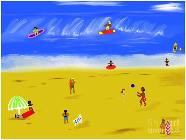 Painting - Surfs Up by Barefoot Bodeez Art