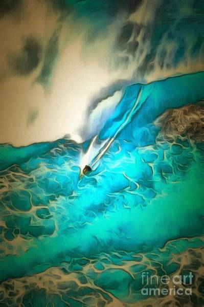 Painting - Surf's Up Leavin It All Behind In Ambiance by Catherine Lott