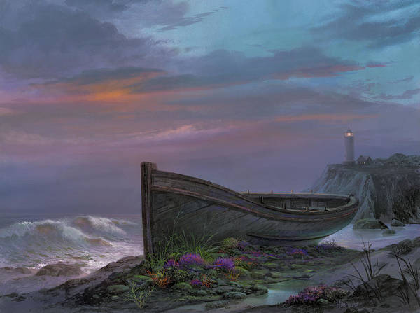 Lighthouse Painting - Surfside Garden by Michael Humphries