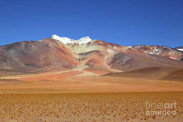 Photograph - Surreal Colours Of Tuyajto Volcano Chile by James Brunker
